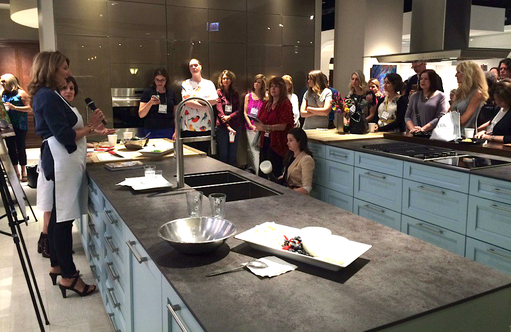 Designer Kathryn Ireland And Luxe Interiors Design Editor In Chief Pam Jaccarino Host A Book Signing Cooking Demonstration During Chicago