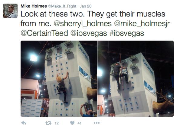 CertainTeed IBS 2016 Mike Holmes Tweet
