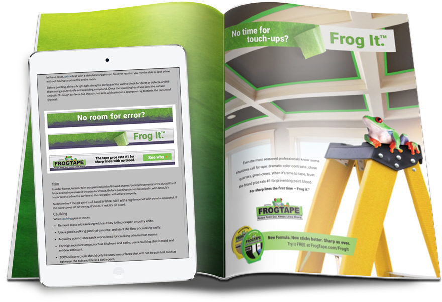 FrogTape contractor advertising