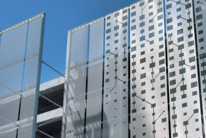 Metal Parking Facade manufactured by GKD