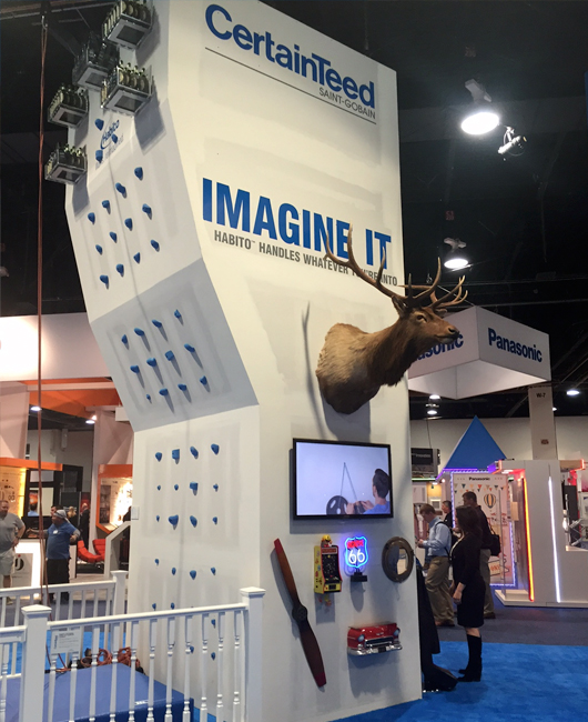 CertainTeed IBS 2016 Climbing Wall Booth