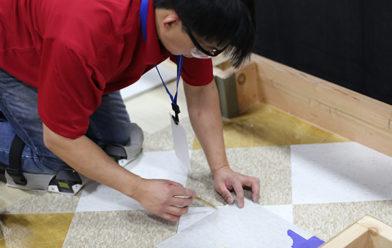 Installing Flooring Tiles
